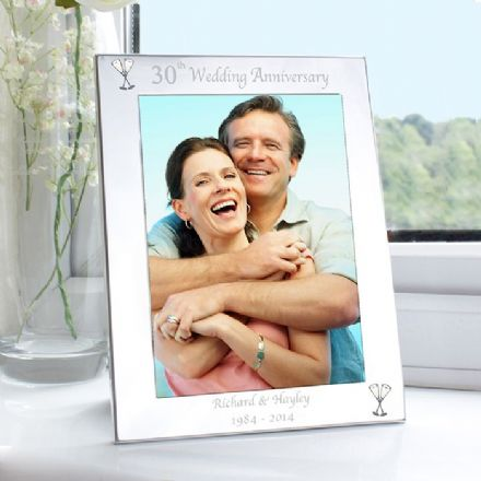 Personalised 30th Pearl Wedding Anniversary 5x7 Photo Frame